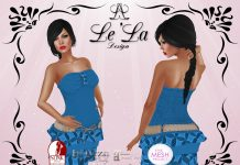 Dayla Dress Blue Group Gift by Le'La Design - Teleport Hub - teleporthub.com