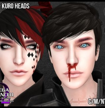 Shiro and Kuro Mesh Heads For Men Gift by Murder of Ravens - Teleport Hub - teleporthub.com
