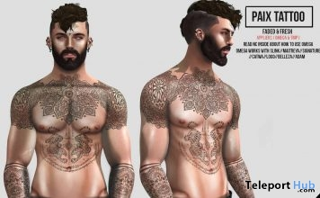Paix Tattoo For Men Group Gift by Speakeasy - Teleport Hub - teleporthub.com