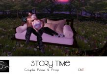 Story Time Couple Pose September 2016 Group Gift by Something New - Teleport Hub - teleporthub.com