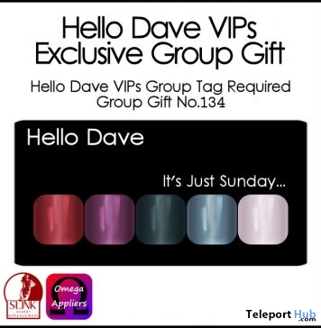 It's Just Sunday Nail Applier Group Gift by Hello Dave - Teleport Hub - teleporthub.com