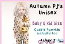 Autumn PJ & Cuddle Pumpkin Group Gift by Yellow Jello - Teleport Hub - teleporthub.com