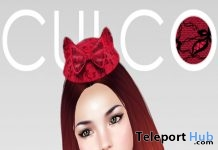 Lace Cat Ear Pillbox Hat Subscriber Gift by Culco - Teleport Hub - teleporthub.com