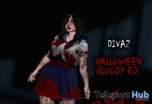 Diva2 School Girl Outfit Halloween Bloody Edition Group Gift by Cute or Die! - Teleport Hub - teleporthub.com