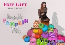 Wearable Pumpkin Pile Halloween Gift by Boudoir - Teleport Hub - teleporthub.com