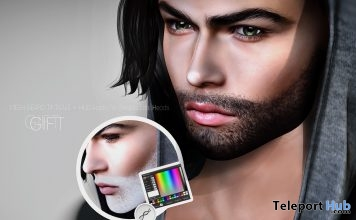 Mesh Tintable Beard Modify HUD October 2016 Shiny Shabby Gift by Genesis Lab - Teleport Hub - teleporthub.com