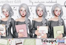 My Autumn Notebook and Poses Subscriber Gift by Label Motion - Teleport Hub - teleporthub.com