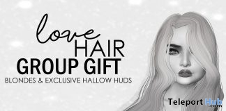 Rogue Hair Exclusive Hallow Tones HUD Group Gift by Love Hair - Teleport Hub - teleporthub.com