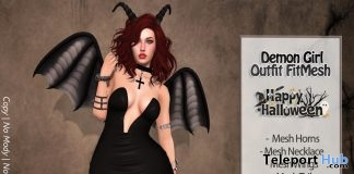Demon Girl Outfit Group Gift by No Cabide - Teleport Hub - teleporthub.com
