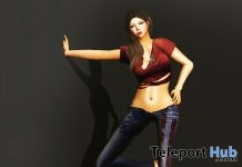 American Jeans and Ripped Princess Top Color Me Project Group Gift by WERTINA - Teleport Hub - teleporthub.com