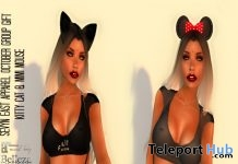 Kitty Cat & Mimi Mouse Outfit With Omega Applier October 2016 Group Gift by SEVYN EAST - Teleport Hub - teleporthub.com