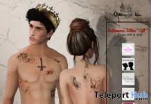 Halloween Unisex Tattoo Lost & Found Event Gift by Queen of Ink - Teleport Hub - teleporthub.com