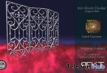 Iron Room Divider 50% Off Promo by REKT - Teleport Hub - teleporthub.com