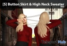 New Release: [S] Button Skirt & High Neck Sweater by [satus Inc] - Teleport Hub - teleporthub.com