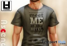 Meet Me At The Hotel T-Shirt L'HOMME Magazine Group Gift by Ascend - Teleport Hub - teleporthub.com