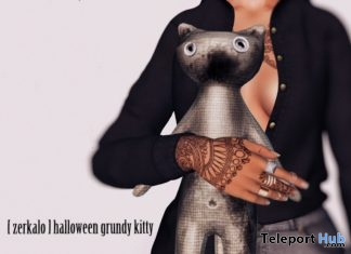 New Release: Halloween Grundy Kitty by [zerkalo] @ Shiny Shabby November 2016 - Teleport Hub - teleporthub.com