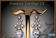 Pandora Earrings V2 10 Years Anniversary Subscriber Gift by Zuri Jewelry - Teleport Hub - teleporthub.com
