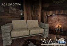 New Release: Aspen Sofa by Warm Animations @ The Crossroads December 2016 - Teleport Hub - teleporthub.com