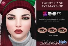 Candy Cane Eye Makeup Christmas Gift by Izzie's - Teleport Hub - teleporthub.com