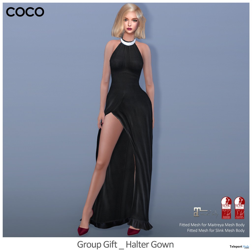 Halter Gown Group Gift by COCO Designs - Teleport Hub - teleporthub.com