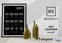 2017 Calendar In Frame Group Gift by BIGBULLY - Teleport Hub - teleporthub.com