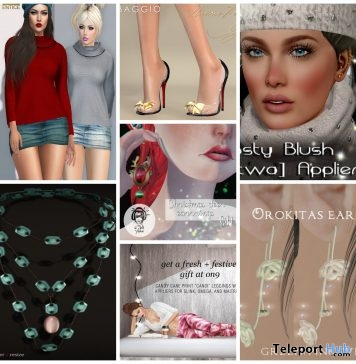 Several 2016 Grand Holiday Party Group Gifts At On9 Event by Various Designers - Teleport Hub - teleporthub.com
