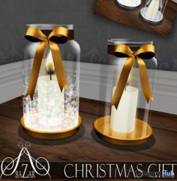 Xmas Candle Jar Silver and Gold Gift by BAZAR - Teleport Hub - teleporthub.com