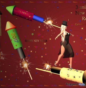 Animated New Year Rocket 2017 Gift by June Trenkins - Teleport Hub - teleporthub.com