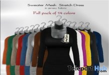 Sweater Stretch Dress 14 Colors Group Gift by TuTy's - Teleport Hub - teleporthub.com