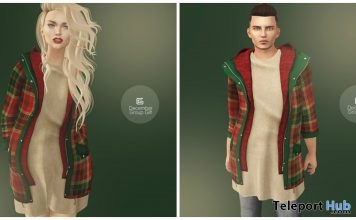 Christmas Sweater & Jacket Unisex December 2016 Group Gift by Gizza Creations - Teleport Hub - teleporthub.com