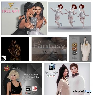 Several Gifts At 2nd Level Event January 2017 by Various Designers - Teleport Hub - teleporthub.com