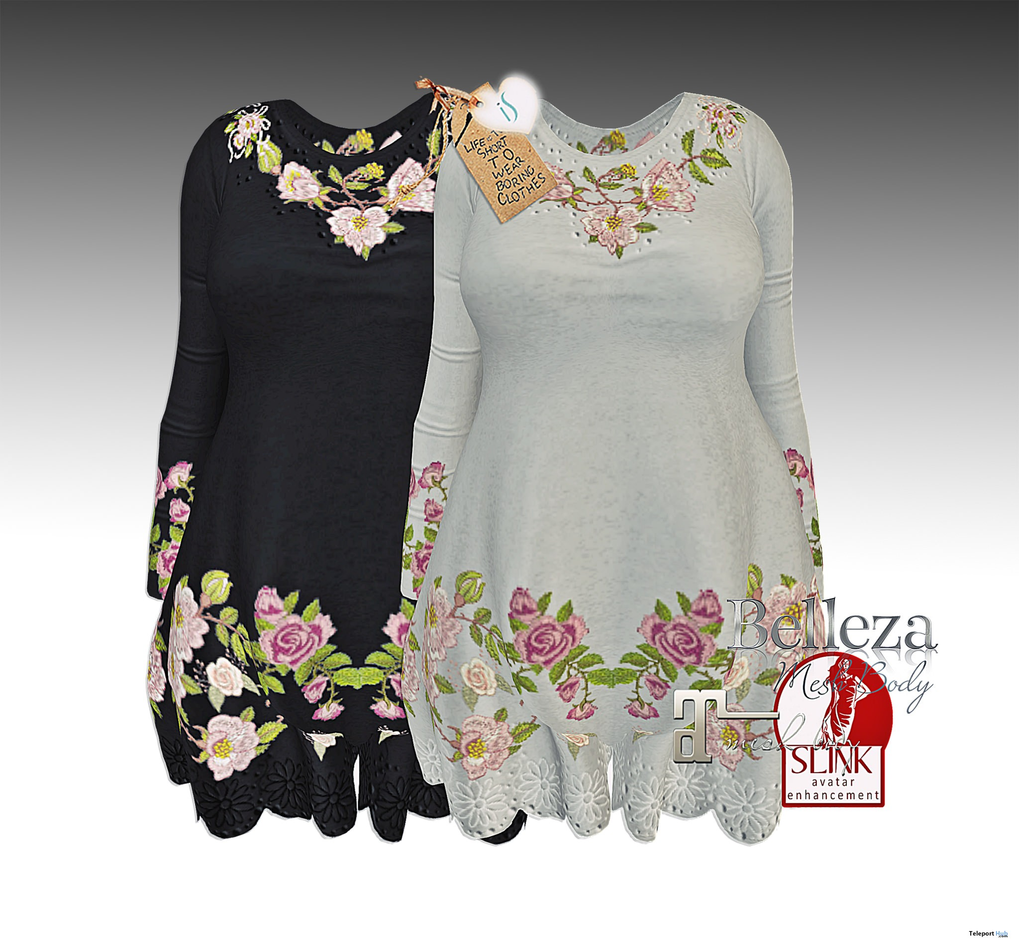 Flowers Embroidered Dress Group Gift by Insomnia Store - Teleport Hub - teleporthub.com