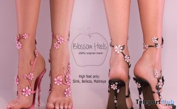 New Release: Blossom Heels by Apple May Designs @ The Crossroads January 2017 - Teleport Hub - teleporthub.com