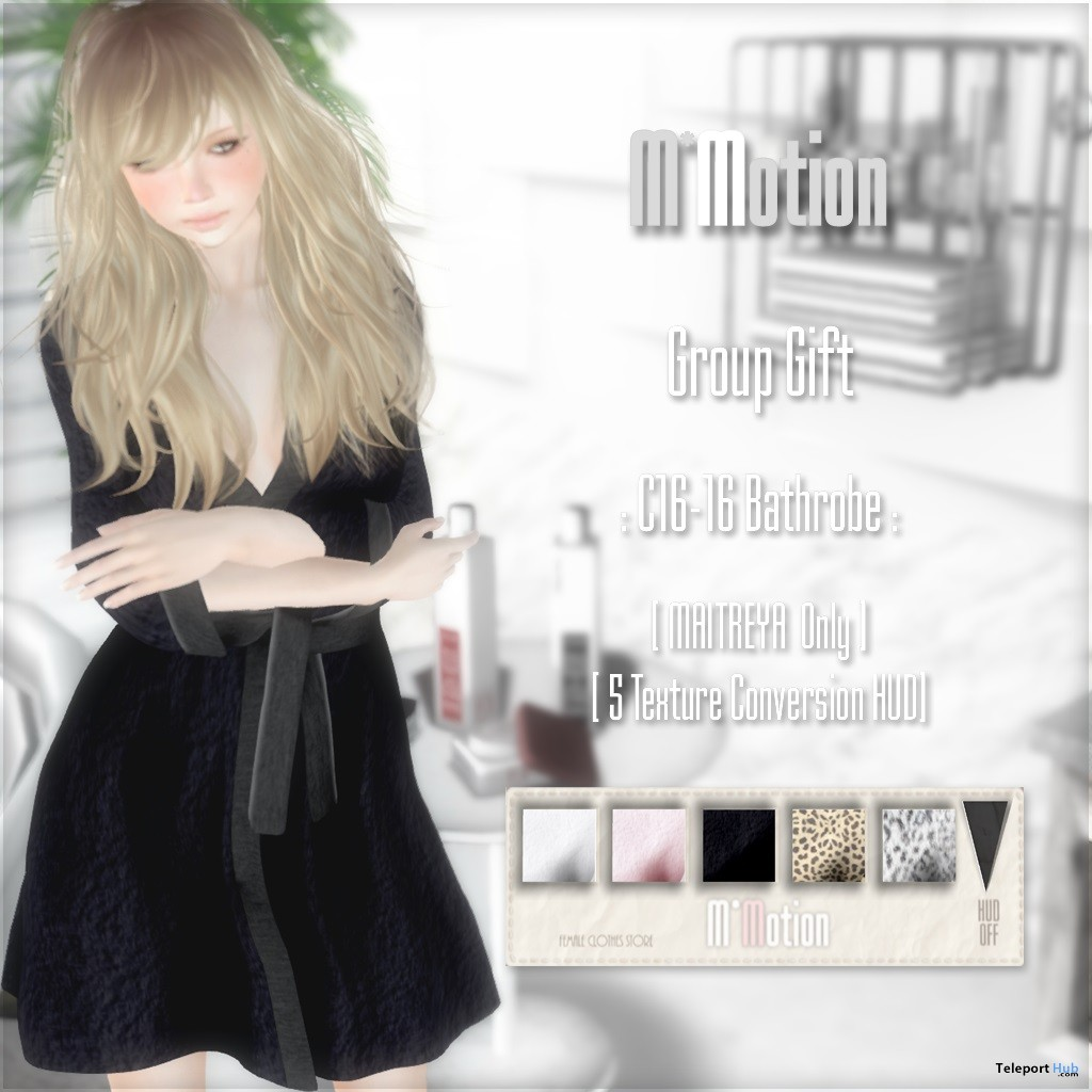 C16-16 Bathrobe January 2017 Group Gift by M*Motion - Teleport Hub - teleporthub.com