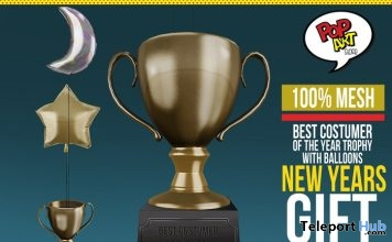 Best Costume of The Year Trophy and Balloons 1L Promo Gift by Pop Art - Teleport Hub - teleporthub.com