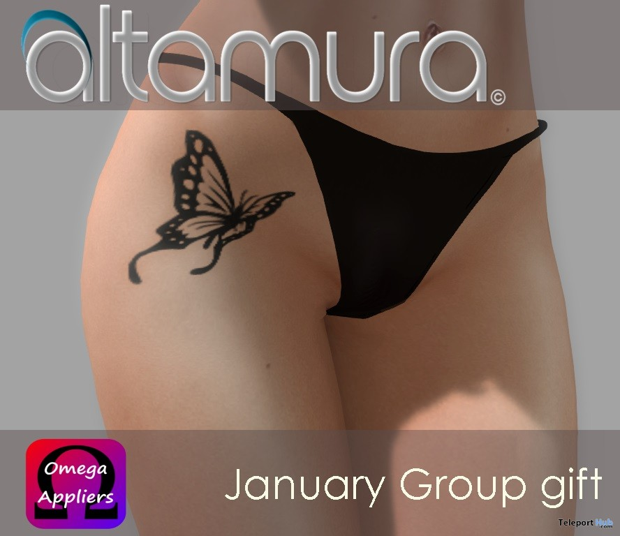 Butterfly Tattoo January 2017 Group Gift by Altamura - Teleport Hub - teleporthub.com