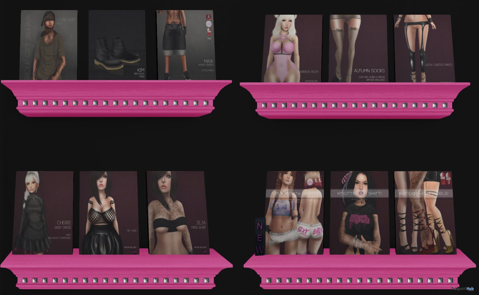 Several Outfits & Accessories Group Gift by cheeky - Teleport Hub - teleporthub.com