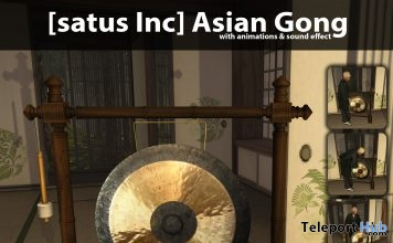 New Release: Asian Gong by [satus Inc] - Teleport Hub - teleporthub.com