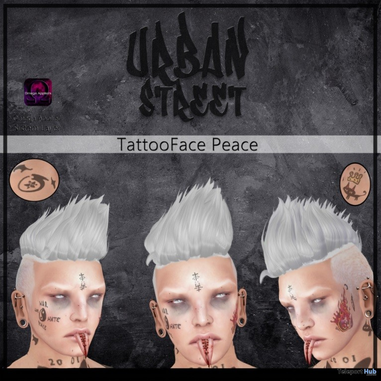 Peace Face Tattoo Group Gift by UrbanStreet - Teleport Hub - teleporthub.com