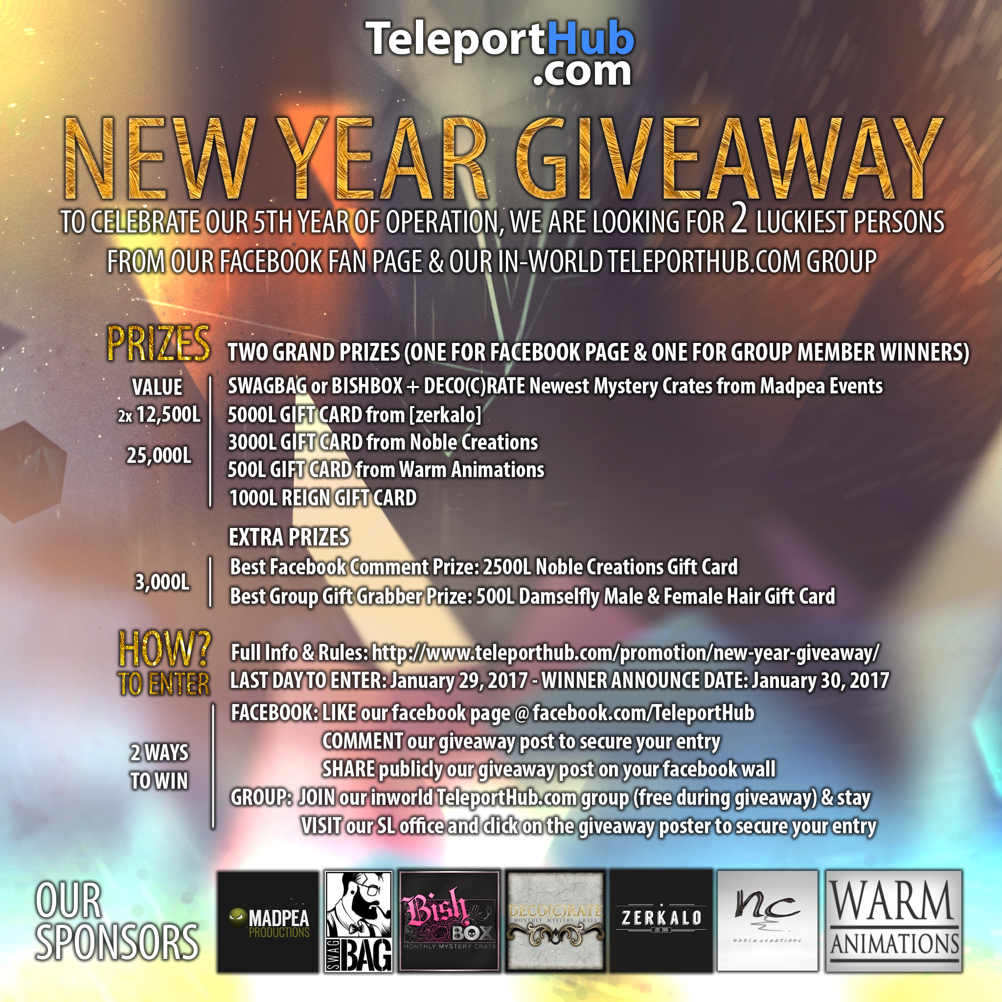 TeleportHub.com's New Year Giveaway
