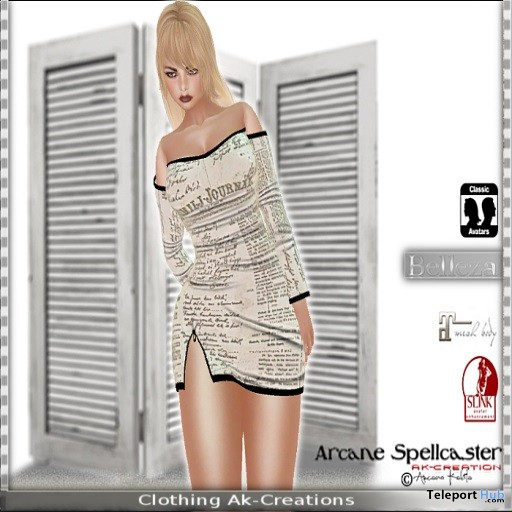 Mini Dress Newspaper Group Gift by *Arcane Spellcaster* Ak-Creations - Teleport Hub - teleporthub.com