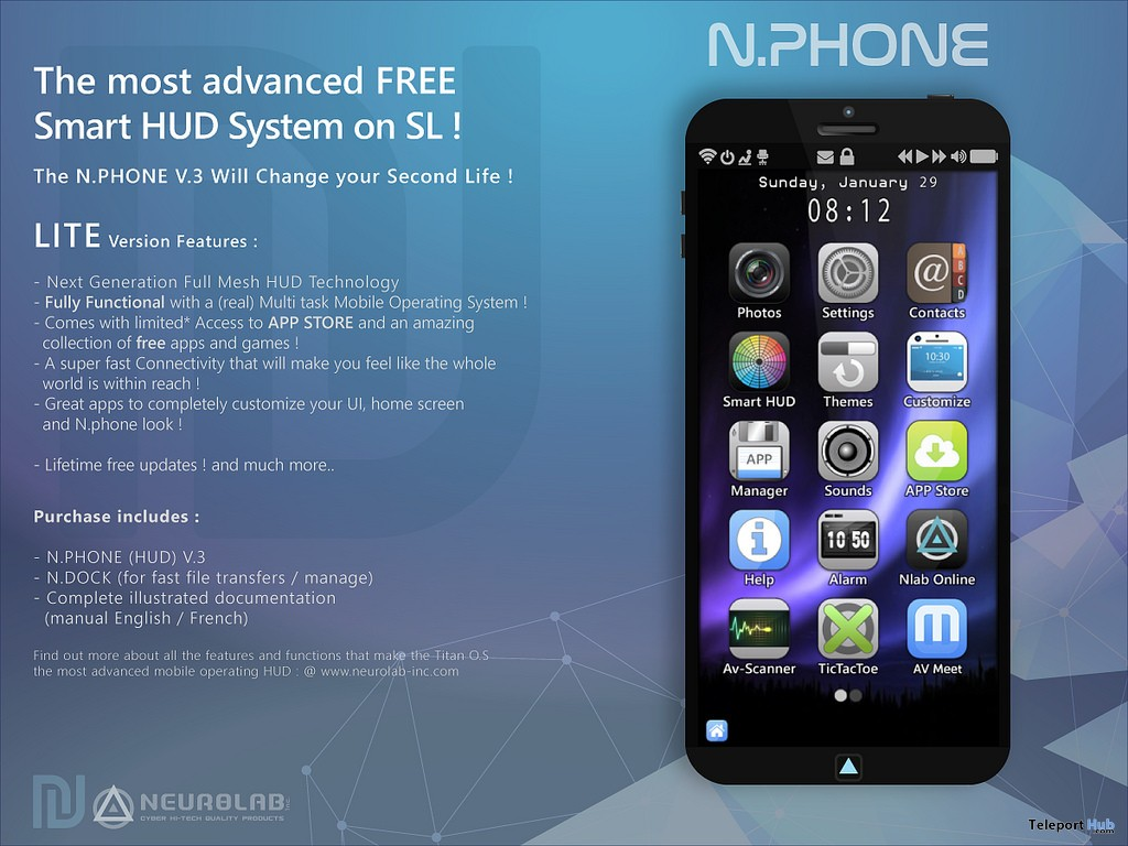 N.Phone V3 Lite Smart HUB 1L Promo Gift by Neurolab Inc - Teleport Hub - teleporthub.com