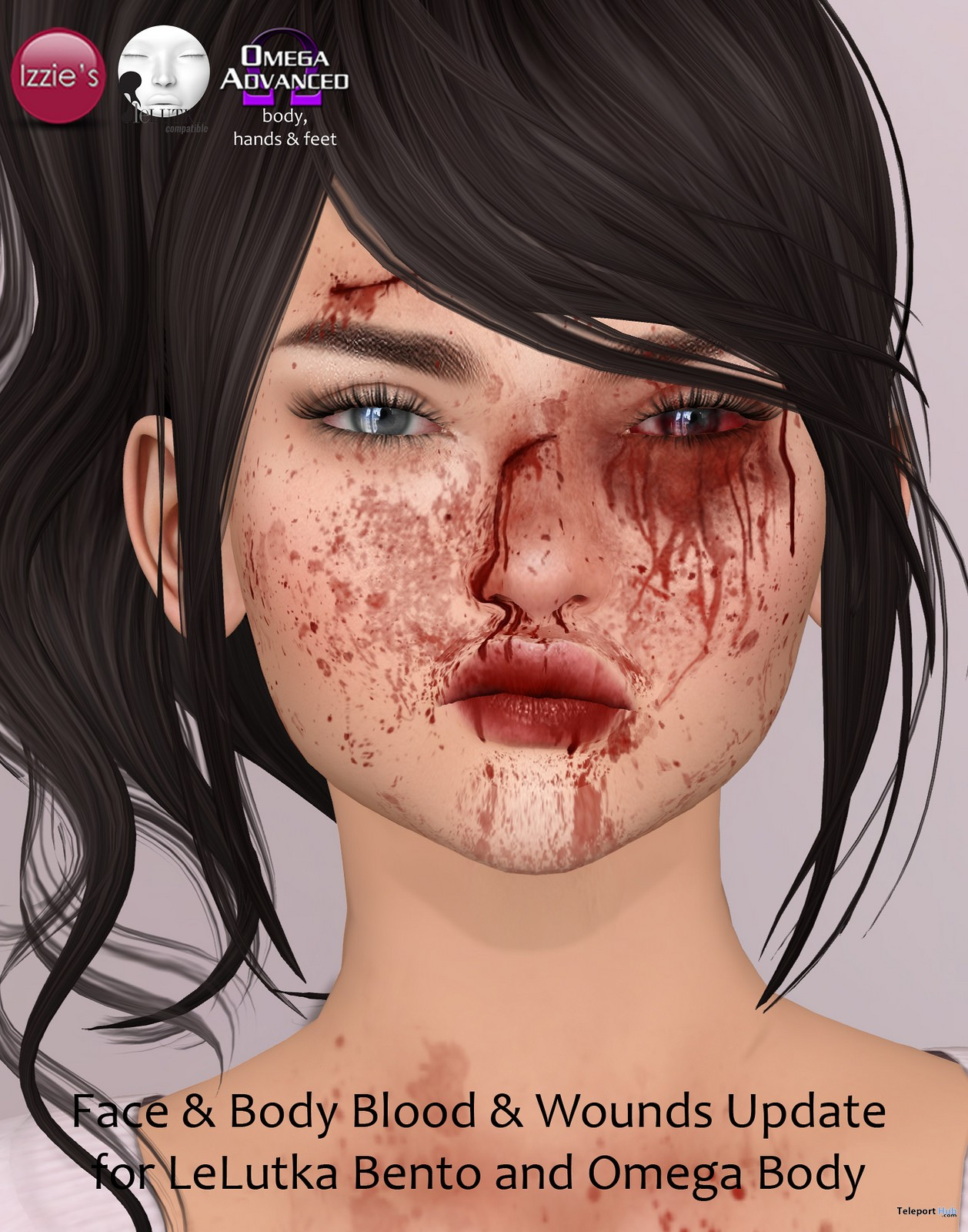 Face ,Body Blood & Wounds Free Update Gift by Izzie's - Teleport Hub - teleporthub.com
