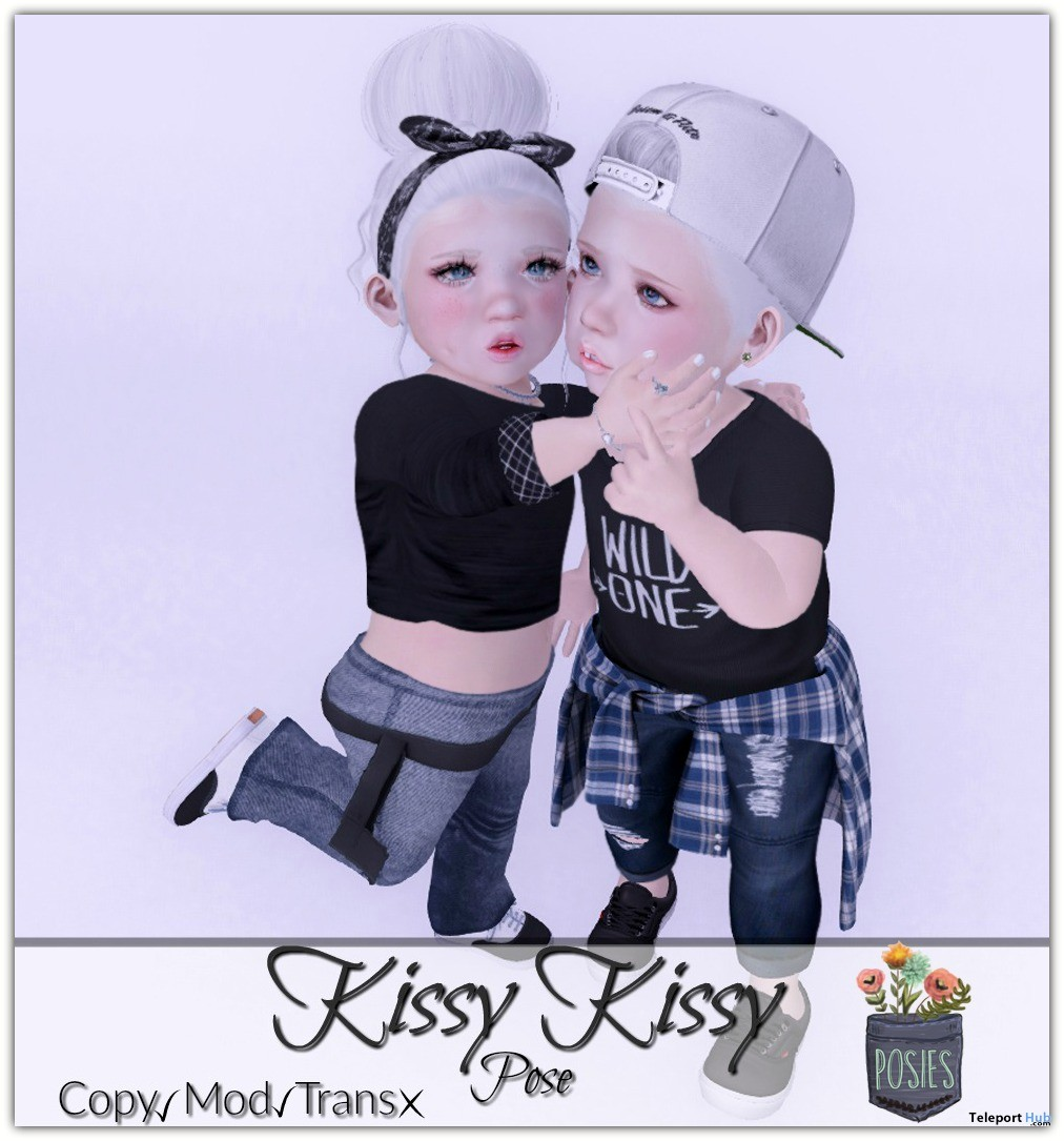 Kissy Kissy Child Pose Group Gift by Posies - Teleport Hub - teleporthub.com