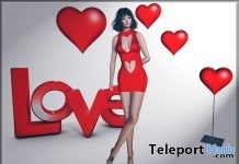 Red Heart Dress, Balloon, & Sign Valentine 2017 Gift by Meva - Teleport Hub - teleporthub.com