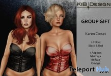 Karen Corset Black & Red Group Gift by KiB Designs - Teleport Hub - teleporthub.com