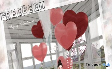 Heart Balloons Red Group Gift by Una - Teleport Hub - teleporthub.com