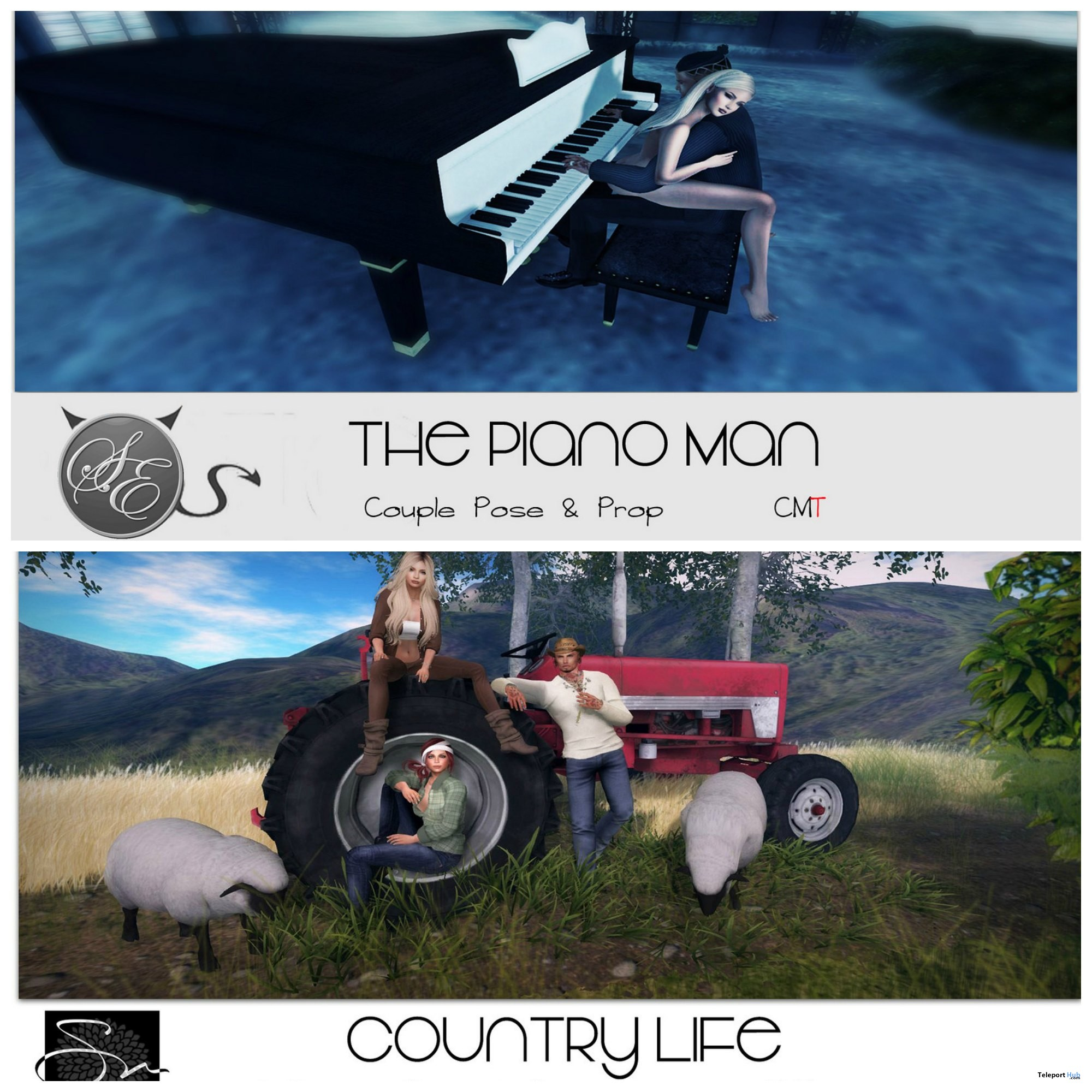 Country Life & Piano Man Poses Group Gift by Something New - Teleport Hub - teleporthub.com