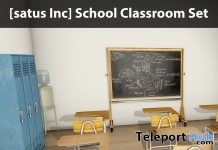 New Release: School Classroom Set by [satus Inc] - Teleport Hub - teleporthub.com