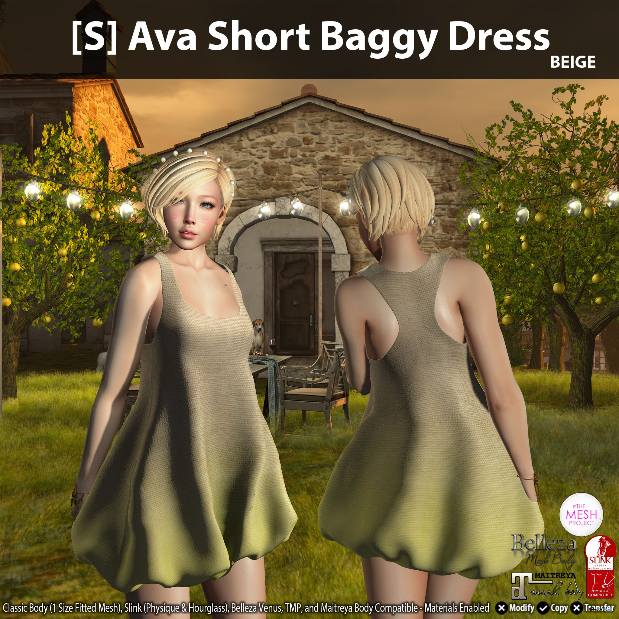 New Release: [S] Ava Short Baggy Dress by [satus Inc] - Teleport Hub - teleporthub.com